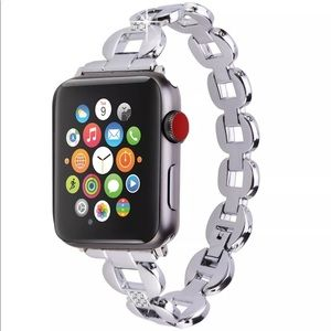 38mm Apple Watch Stainless Crystal Bracelet Band
